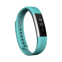 Fitbit Alta Fitness Tracker, Silver/Teal, Large
